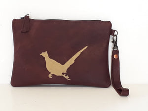 Fox & Pheasant Leather Purse - Coterie Leather Bags