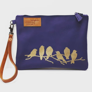 Branching Out Leather Purse - Indigo - Coterie Leather Bags