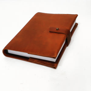 Leather bound A5 Journal - Coterie Leather Bags