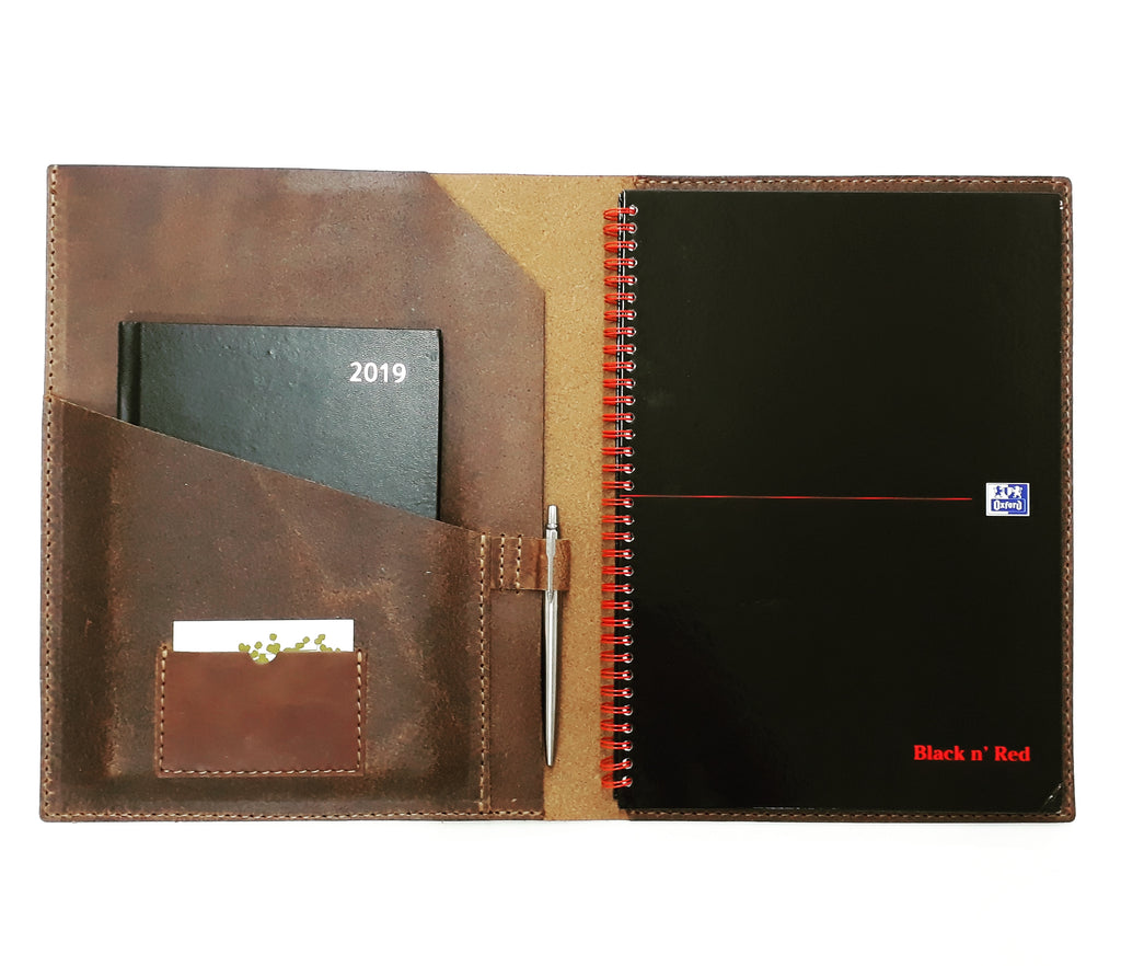 Leather A4 Padfolio - Coterie Leather Bags