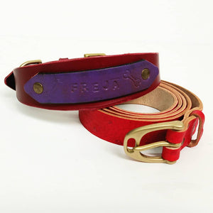 Make Your Dog a Personalised Leather Collar