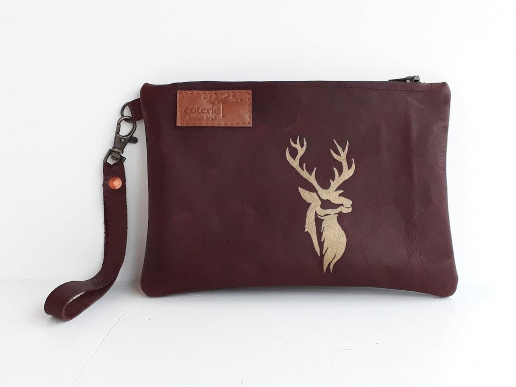 Stag Leather Purse - Coterie Leather Bags