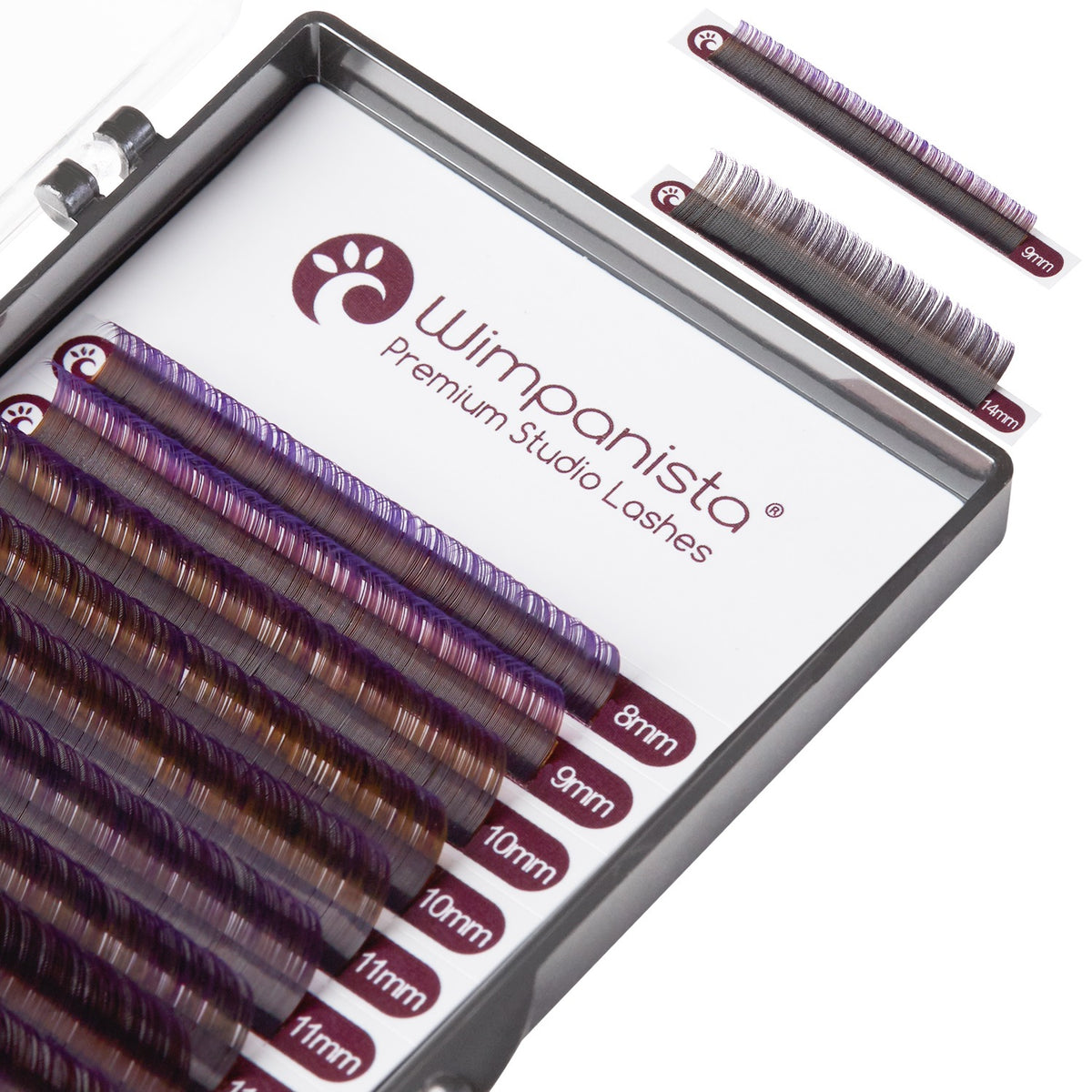 Ombré Lashes Violett C Curl 0.07 mm Mix 8-15 mm