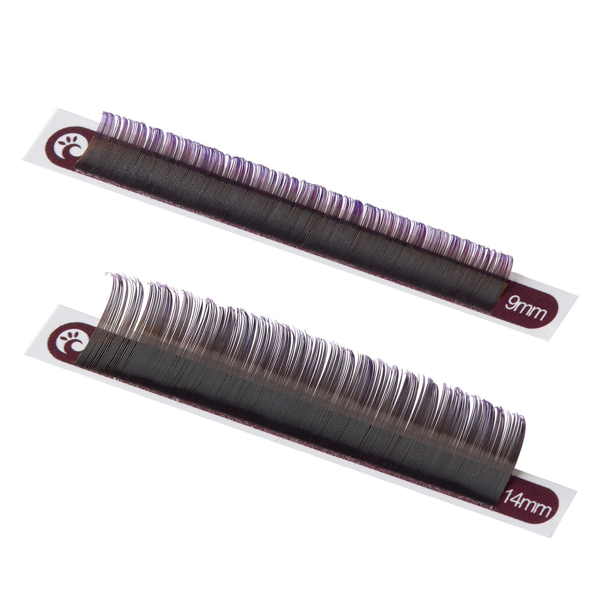 Ombré Lashes Violett D Curl 0.07 mm Mix 8-15 mm