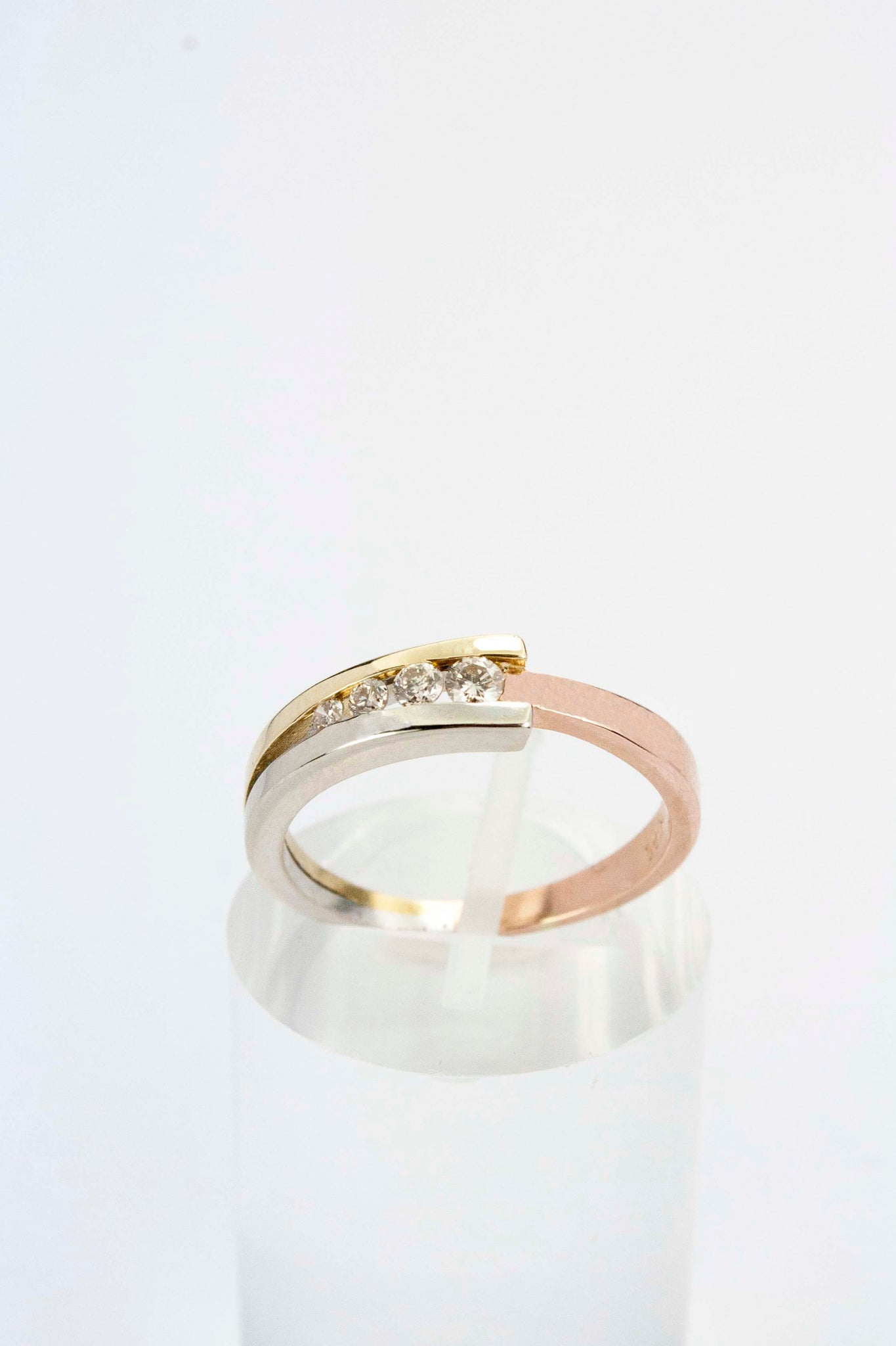 slanted set ring rings product diamond tension