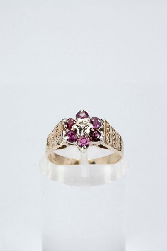 9ct Ruby Cluster Ring