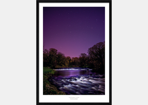 River Doon by Starlight Framed
