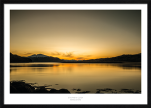 Gold Over Loch Linnhe Framed