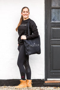 Cathrine Dufour Canter Sweatshirt and tote bag with logo