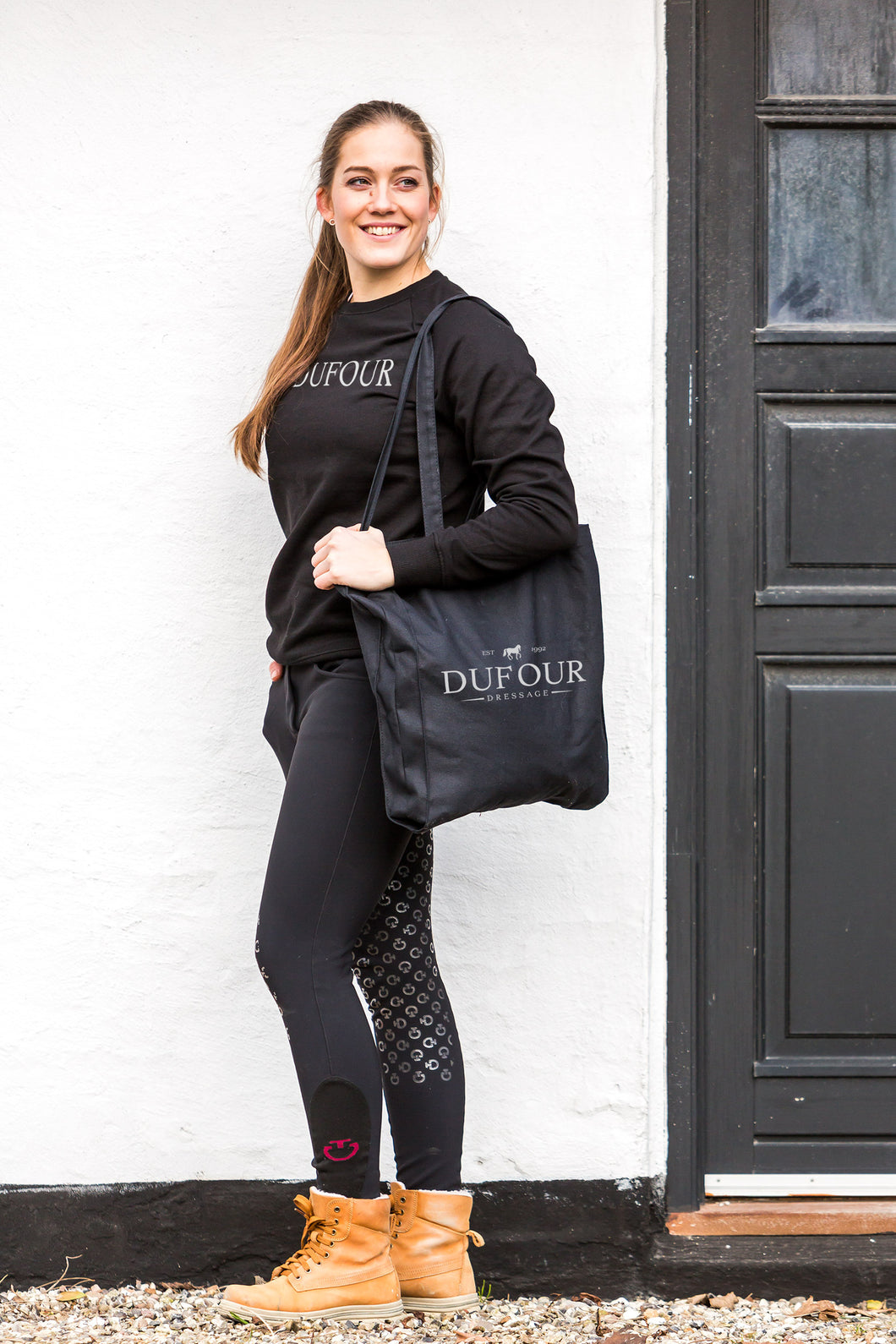 Dufour Canter Sweatshirt and tote bag with logo Trolle pants