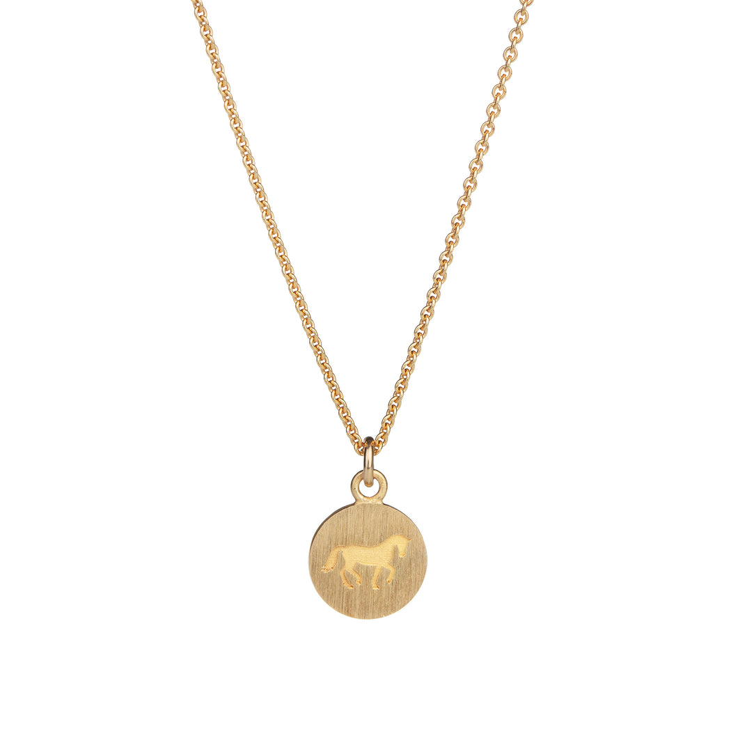 Cassidy Small Pendant Gold Plated Carved Matte
