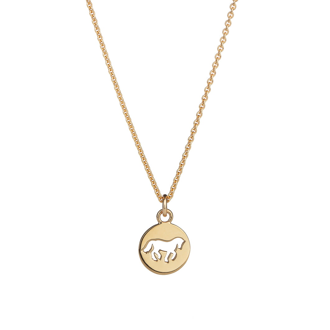Cassidy Small Pendant Gold Plated Cut Matte