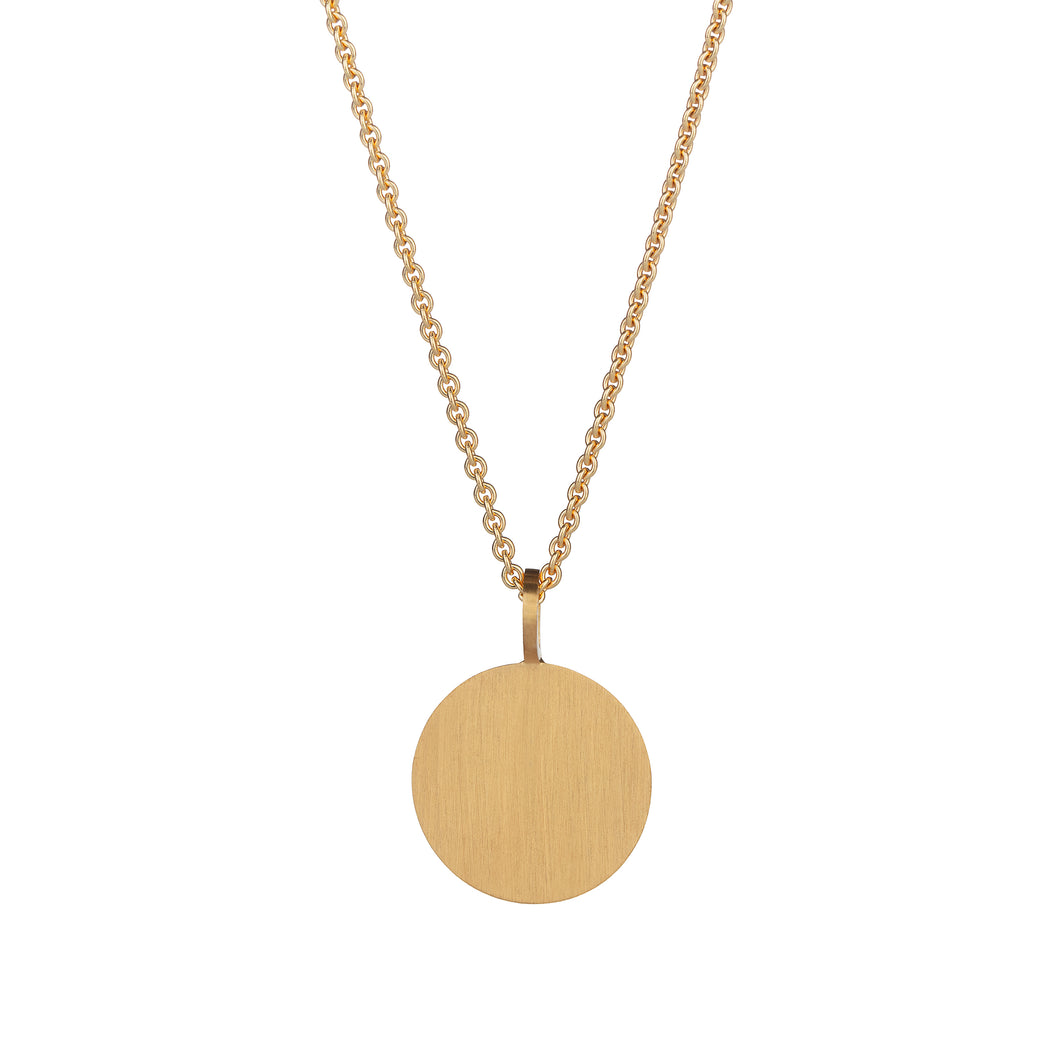 Cassidy Large Pendant Gold Plated Classic Matte