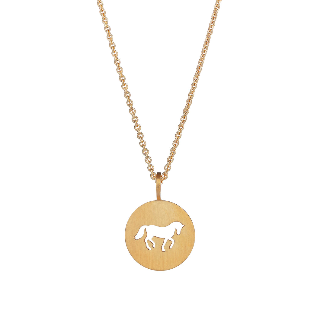 Cassidy Large Pendant Gold Plated Cut Matte