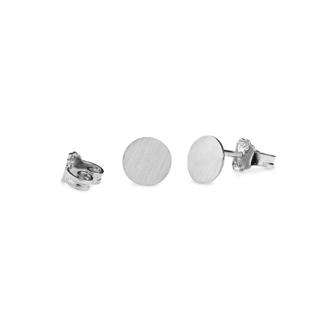 Cassidy Plate Horse Earrings Silver Classic Matte