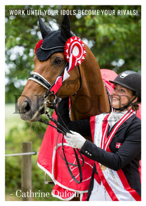 Cathrine Dufour Danish Champion Poster with Atterupgaards Cassidy