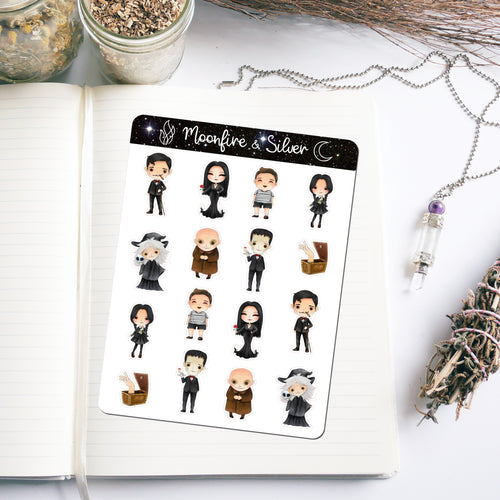 Addams Family Inspired Stickers