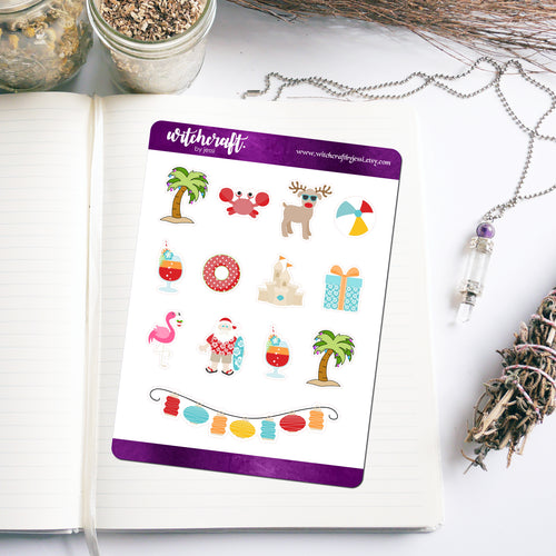 Aussie Summer Christmas Stickers