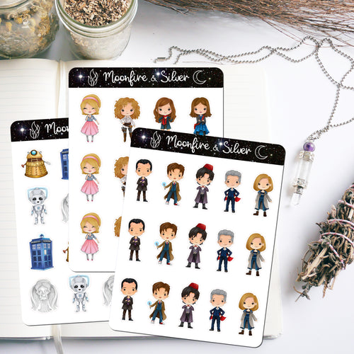 Doctor Who Inspired Stickers