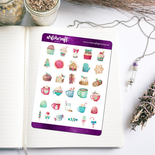 Festive Foodstuffs Stickers