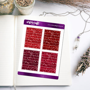 Red Glitter Header Stickers