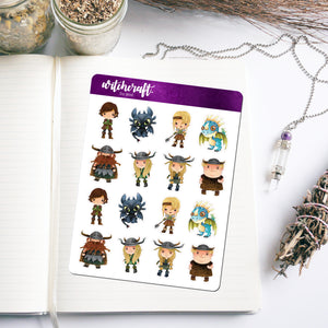 How To Train Your Dragon Inspired Stickers