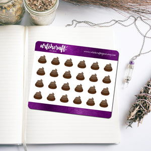 Poop Icon Stickers (MINI SHEET)