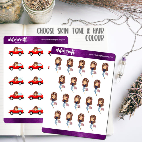 Travelling Girl Stickers