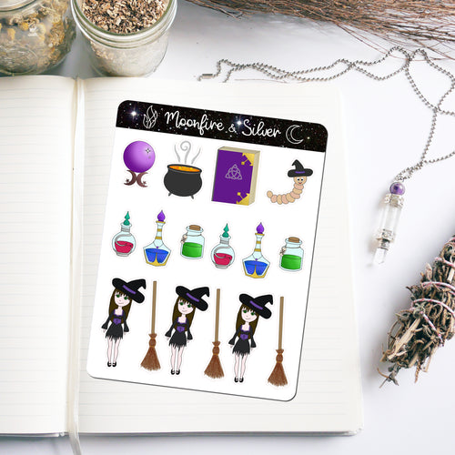 Witchy-Themed Stickers