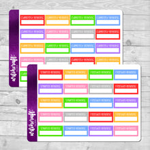 Reading Tracker Stickers