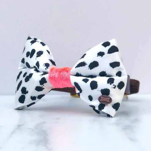 Pinto Neon Satin Dog Bow Tie