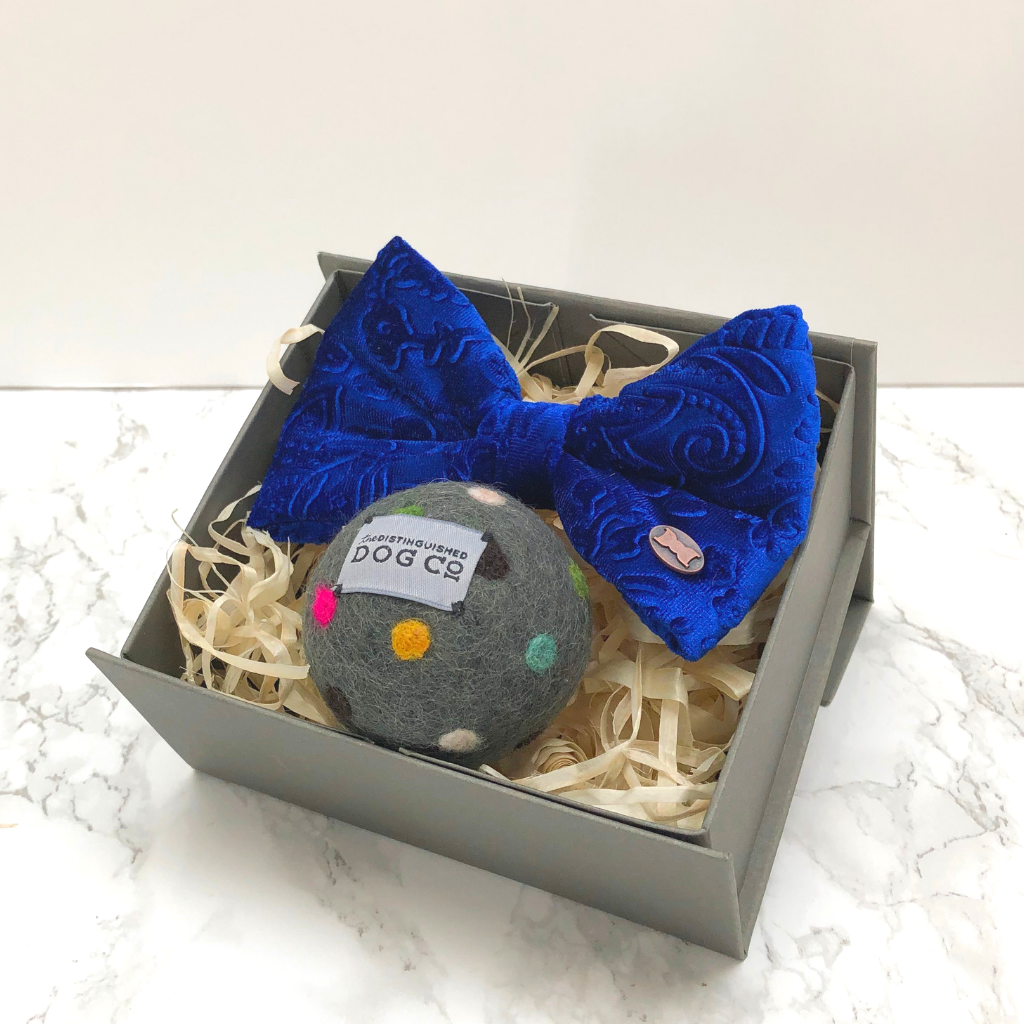 Large bow tie and ball gift box