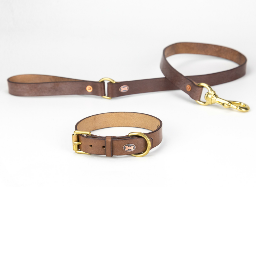 The Beddington Leather Dog Collar
