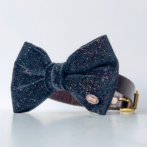 Glitter Ball Velvet Dog Bow Tie
