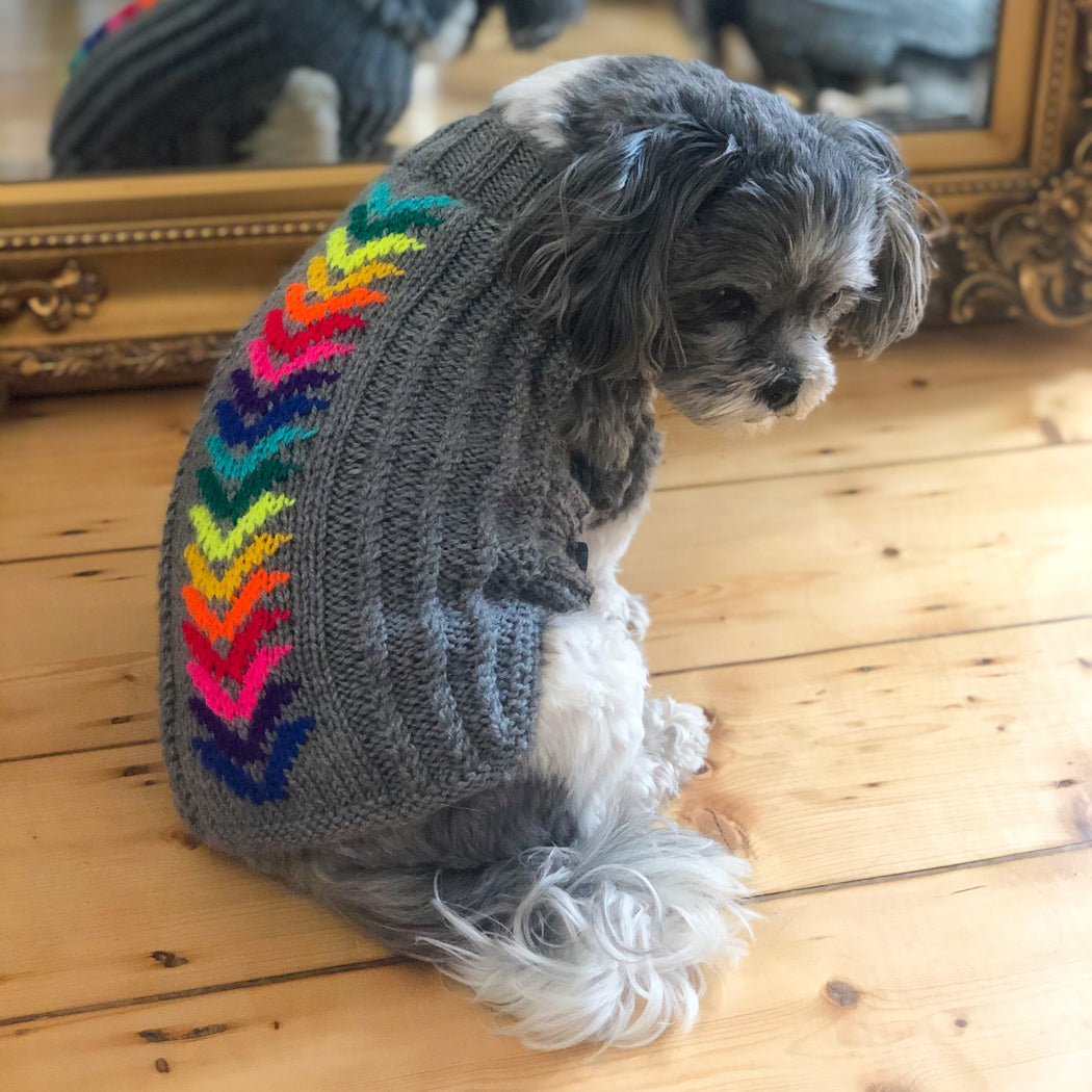 Rainbow Chevron Knitted Sweater