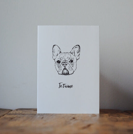 French Bulldog Love Card