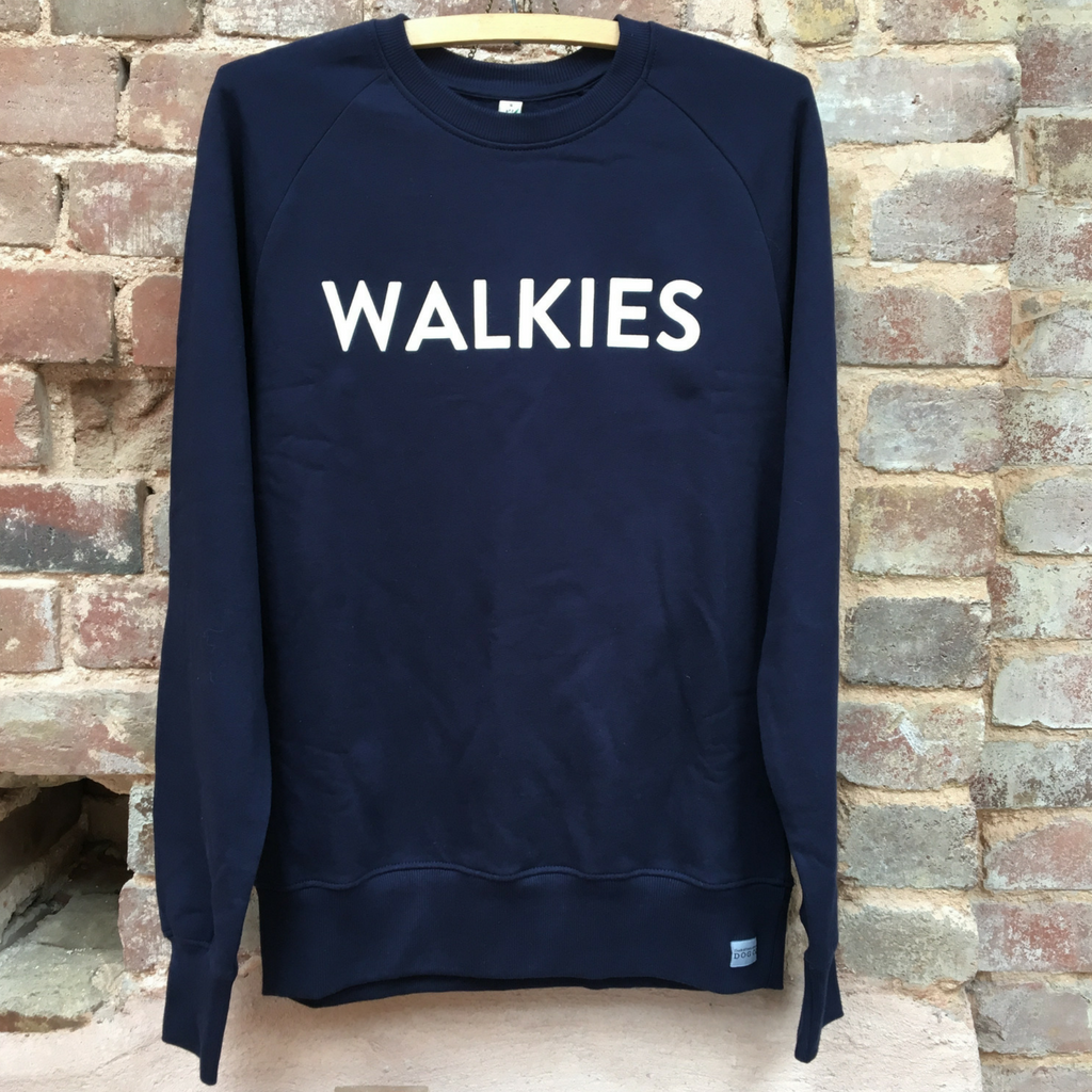 WALKIES Navy Blue Slogan Sweatshirt