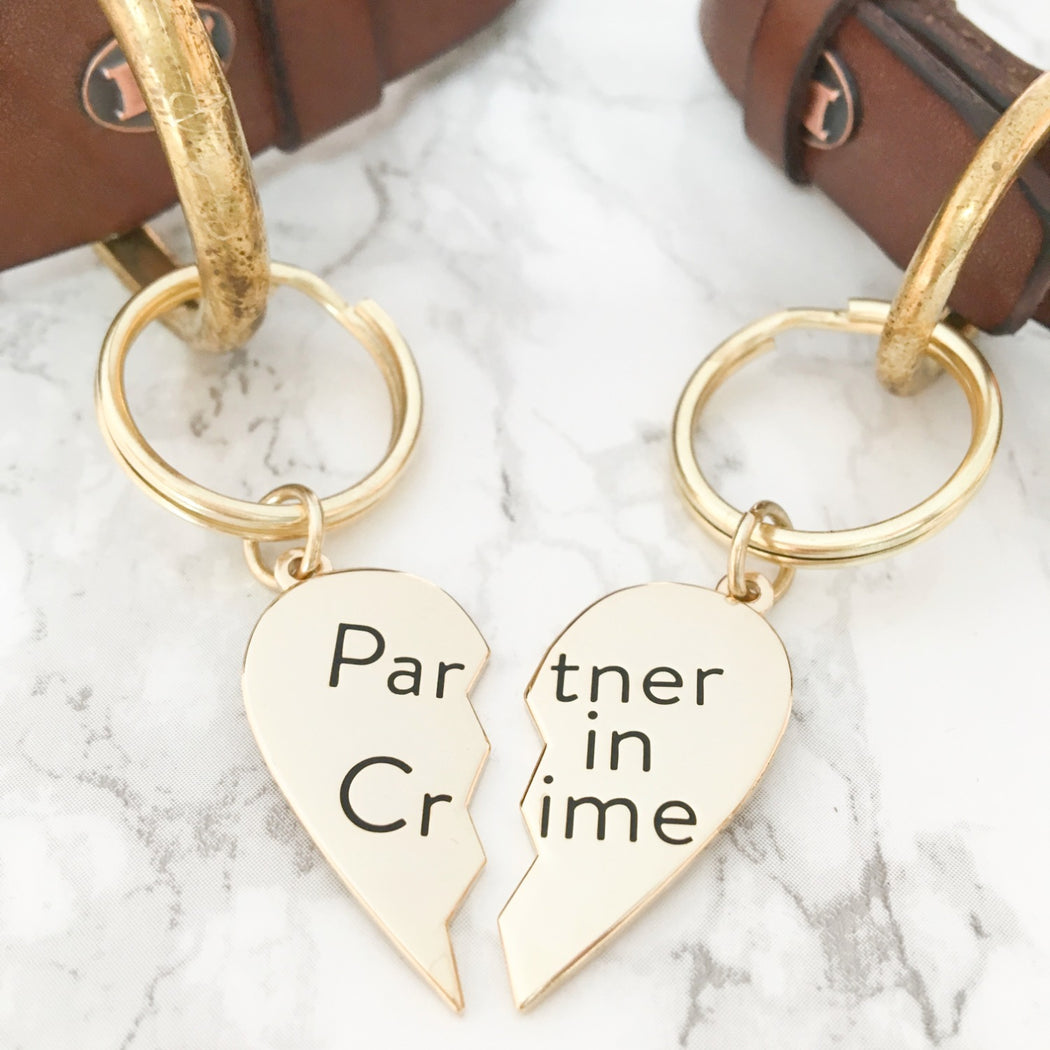 Partner In Crime Collar Charm