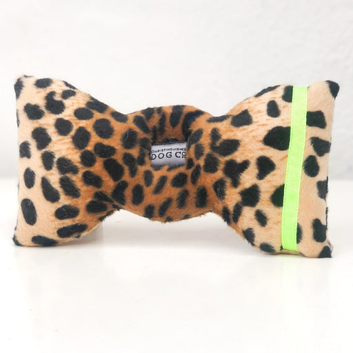 Leopard and Neon Bow Tie Plush Toy