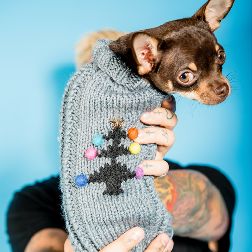 The Christmas Tree Knitted Dog Jumper
