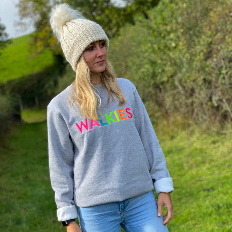 Neon Rainbow WALKIES Sweater