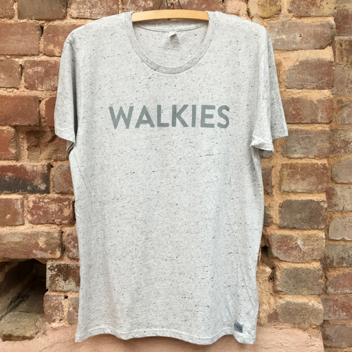 White Marl WALKIES Slogan Tee