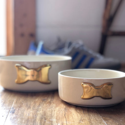 Golden Dog Bowls