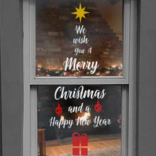 Load image into Gallery viewer, Merry Christmas Tree Window Decal Sticker