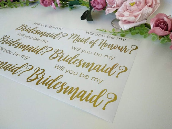 SMALL - Bridesmaid Proposal Vinyl Sticker Decal