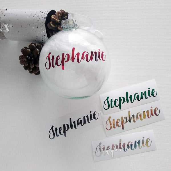 Christmas Metallic Foil Decal Sticker For A  Bauble