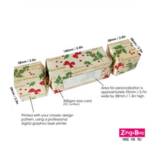 Load image into Gallery viewer, Personalised Christmas Cracker Gift Box For Children - Santa Print