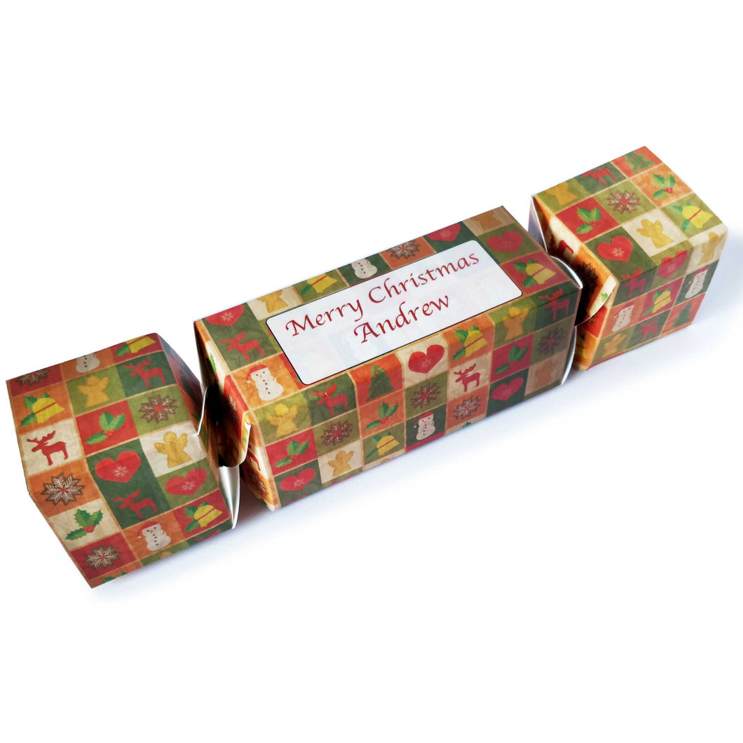 Christmas Cracker Gift Box (Personalised) - Eco Friendly Flat Pack Design