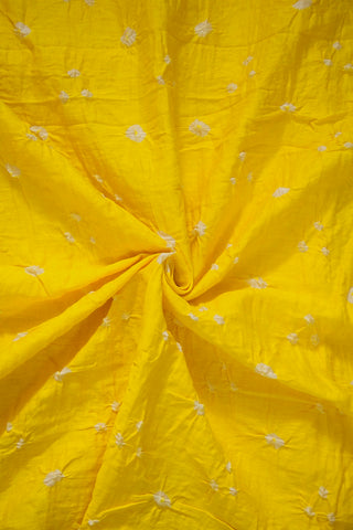 Lemon Yellow Bandhani Cambric Cotton Fabric