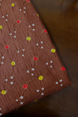 Light Brown with dots Bandhani Cotton Fabric